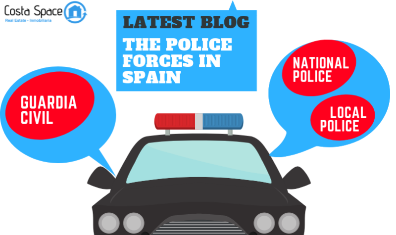 How are the Spanish Police Forces organized?